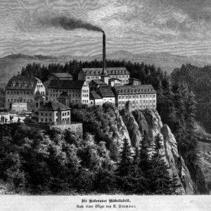 Historische Ansicht der Sächsichen Holzindustrie Rabenau