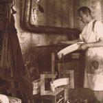 Stuhlbauer am Leimofen