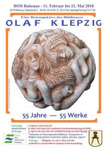 Plakat zur Ausstellung Olaf Klepzig