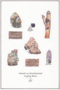 Gezeichnete Mineralien