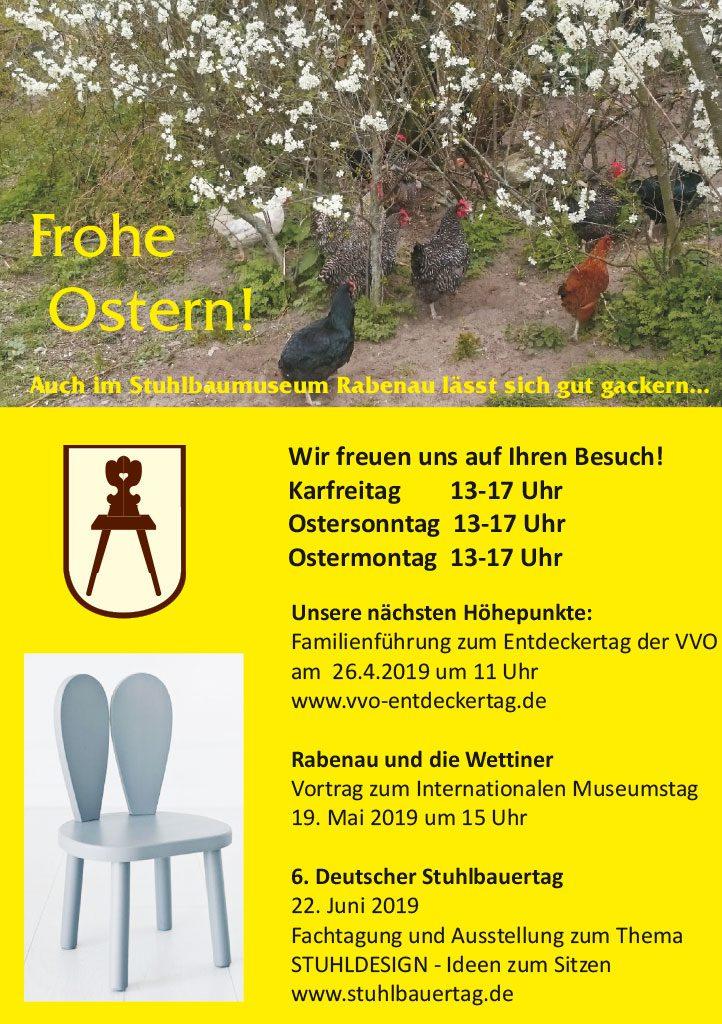 Ostern im Stuhlbaumuseum Rabenau - Öffnungszeiten