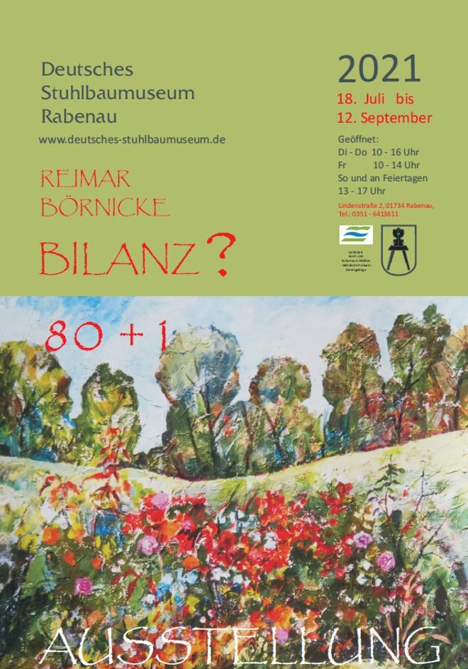 Plakat zur Ausstellung von Reimar Börnicke